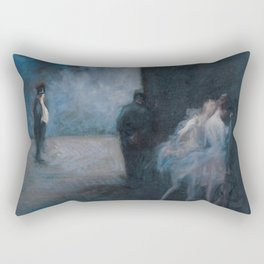 Jean-Louis Forain - Backstage―Symphony in Blue Rectangular Pillow