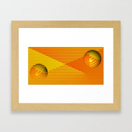 Yellow stripes and balls ... Framed Art Print
