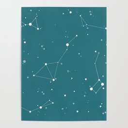 Emerald Night Sky Poster