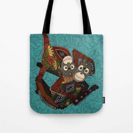 orangutans blue Tote Bag