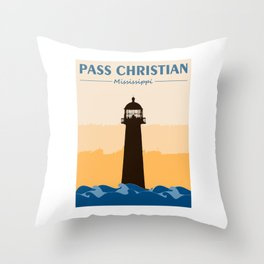 Pass Christian Mississippi. Throw Pillow