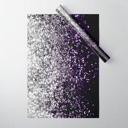 Dark Night Purple Black Silver Glitter #1 #shiny #decor #art #society6 Wrapping Paper