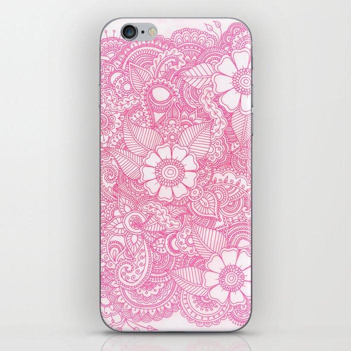 Henna Design - Pink iPhone Skin