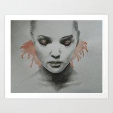 watercolour / pencil Art Print