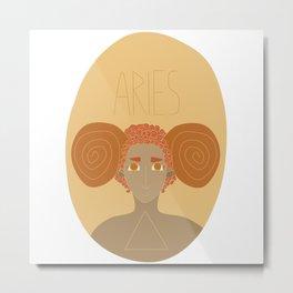 Aries: The Ram Metal Print