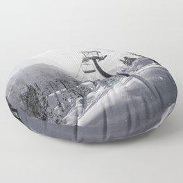 Mt Baker Ski Lift Floor Pillow