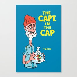 The Capt. In The Cap Canvas Print