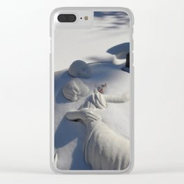 Essendo Morti - Brother and Sister Tomb - Swan Point Cemetery - by Jeanpaul Ferro Clear iPhone Case