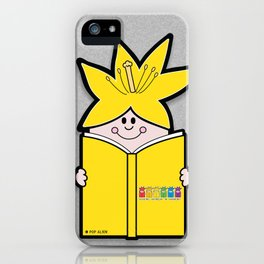 Reading Rainbow in Harmony - Yellow iPhone Case