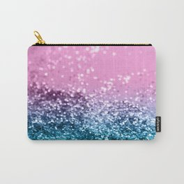 Tropical Beach Lady Glitter #1 #shiny #decor #art #society6 Carry-All Pouch