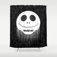 jack skellington Shower Curtains featuring Jack Skellington by Anagram-Daine