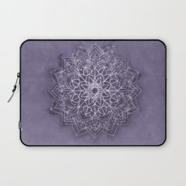 Vintage Lavender Watercolor Mandala Laptop Sleeve