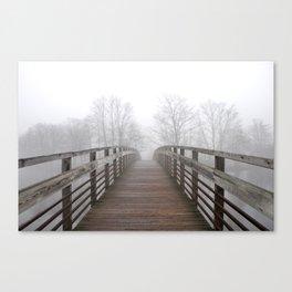 Fog on the Huron Canvas Print