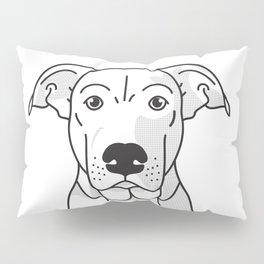 Labrador Mix Dog Portrait -Custom, black palette, minimal Pillow Sham