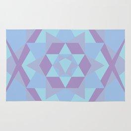 Geometric Mandala in Blue & Purple Rug