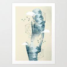 Tree line Facet Art Print