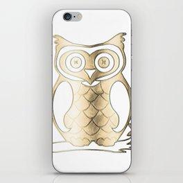 Golden owl iPhone Skin
