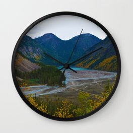 Kinney Lake in Mount Robson Provincial Park, BC, Canada Wall Clock