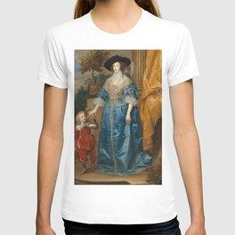 """Sir Anthony van Dyck """"Queen Henrietta Maria with her dwarf, Sir Jeffrey Hudson"""" T-shirt"""