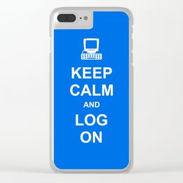 Keep Calm and Log On Clear iPhone Case