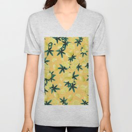 Lemon Twist Vibes #3 #tropical #fruit #decor #art #society6 Unisex V-Neck