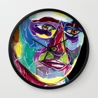 david tennant Wall Clocks featuring Tenth Doctor / David Tennant by Siriusreno