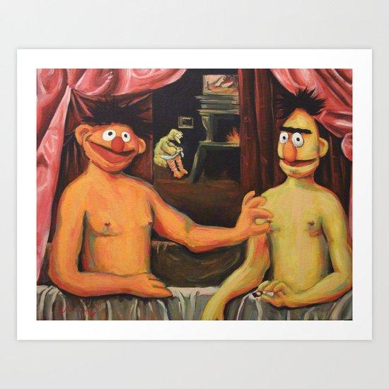 Bert Et Un De Ses Frères Art Print