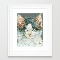 leah flores Framed Art Prints featuring Leah by Cat Art by Lori Alexander