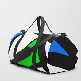 China Blue, Apple Green and Sunshine Yellow Abstract Duffle Bag
