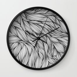 Pin in a Hairstack Wall Clock