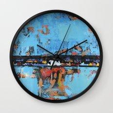 Stallion Blue Modern Painting Abstract Art Landscape Wall Clock