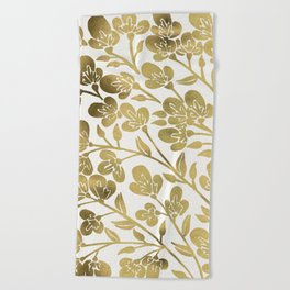 Cherry Blossoms – Gold Palette Beach Towel