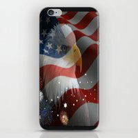 patriotic iPhone & iPod Skins featuring Patriotic America by Barrier Style & Design