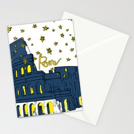 Rome Italy Colosseum Starry night Stationery Cards