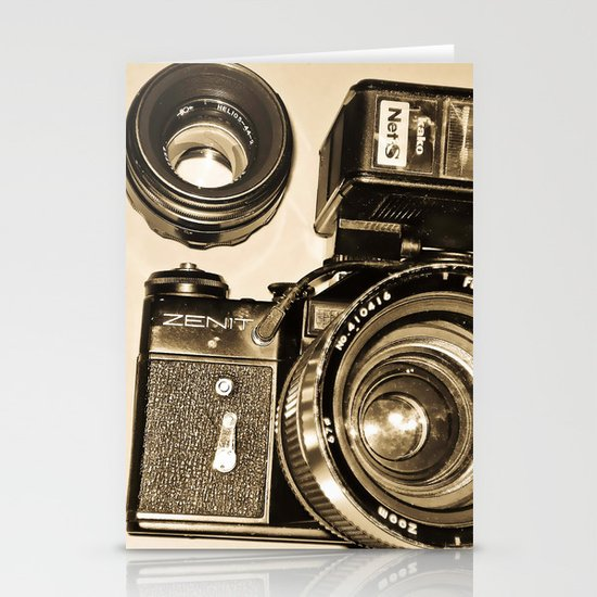 RUSSIAN CAMERA ZENIT 2 Stationery Cards