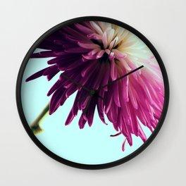 Exotic Fuchsia Chrysanthemum Wall Clock