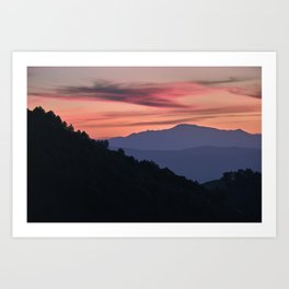 Misty Mountains, Boca De La Pesca. 1.518 Meters Art Print
