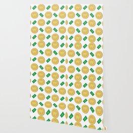Korean won pattern background Wallpaper