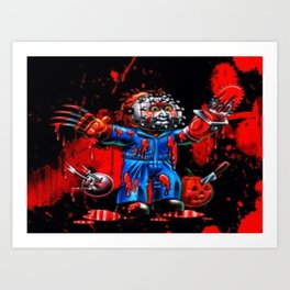 Freddy Of All Faces Art Print