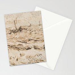 Fishing Boats at Saintes-Maries-de-la-Mer Stationery Cards