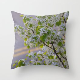 Blossoms on Third Avenue Throw Pillow