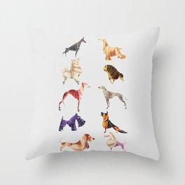 Dog breeds Throw Pillow