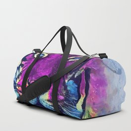 tiger purple spirit #tiger Duffle Bag