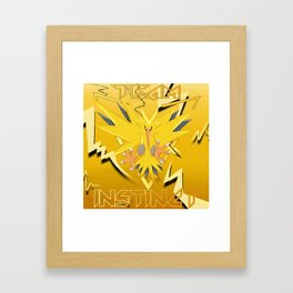 TEAM INSTINCT Framed Art Print