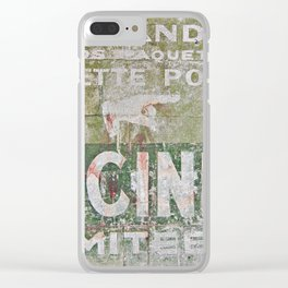 Ghost Sign Clear iPhone Case