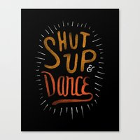 dance Canvas Prints featuring Dance by skitchism