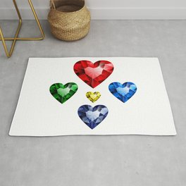 Multi-colored hearts Rug