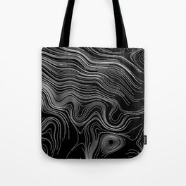 Abstract Black And White Lines And Waves Art Retro Pattern Tote Bag