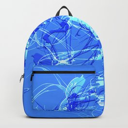Abstract Blue with Lines Backpack