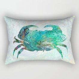 Design 41 Turquoise crab Rectangular Pillow